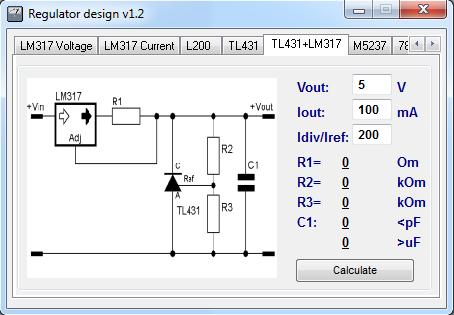 Расчет стабилизатора на LM317