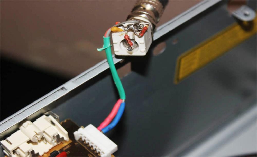 подключении CD чейнджера