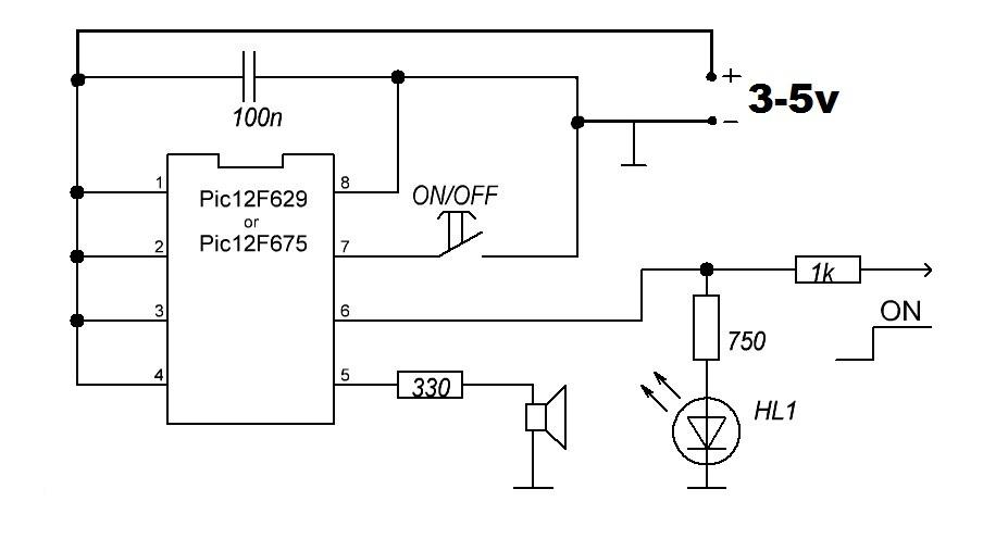 кнопка на микроконтроллере