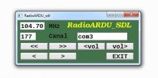 Подключение RDA5807 к ARDUINO с управлением с компьютера + софт